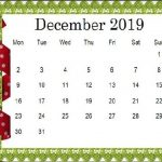 Cute December Calendar 2019 Floral Wallpaper For Desktop iPhone
