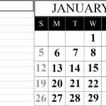Fillable Calendar For January 2020 Printable Editable Template Notes