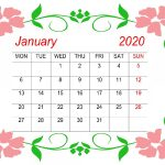 Cute January Calendar 2020 Floral Wallpaper For Desktop iPhone
