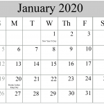 January Holidays 2020 USA UK Canada – January 2020 Calendar with Holidays