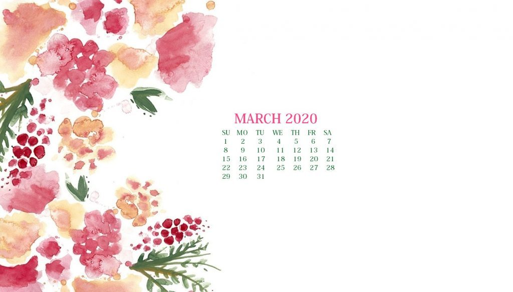 March 2020 Background Wallpaper