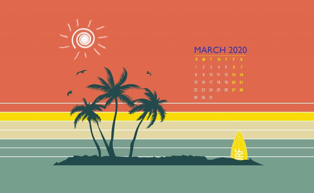March 2020 Wallpaper With Calendar