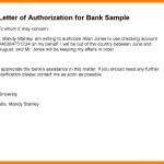 (Free) Sample of Authorization Letter For Cheque Collection