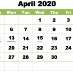 April 2020 Calendar Wallpaper For Desktop, iPhone, Laptop